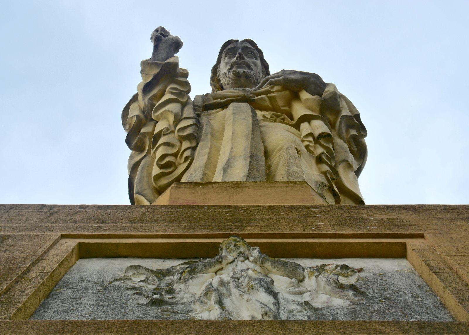 christ-statue-mount-urgull-san-sebastian-spain
