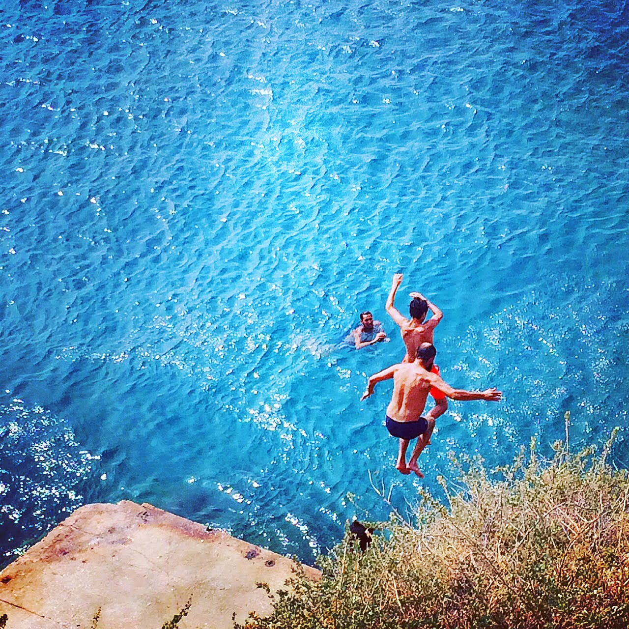 plunging into nice-france