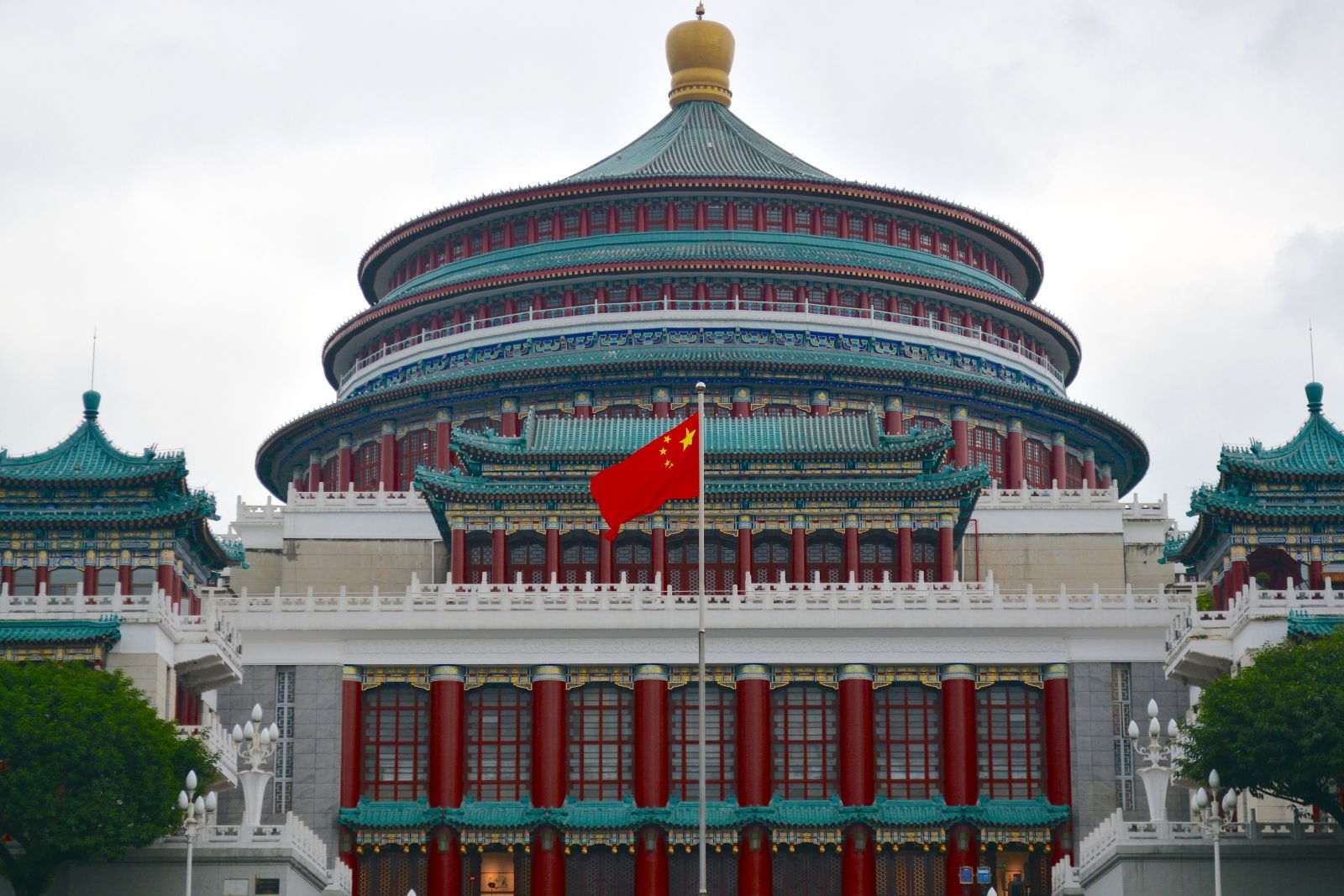 peoples-great-hall-chongqing-flag